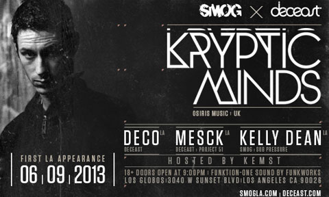 Sun. June 9th: SMOG x DECEAST pres. Kryptic Minds